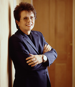 Billie Jean King, 39-time grand slam champion