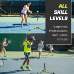 Young players training tennis using Eye Couch Pro