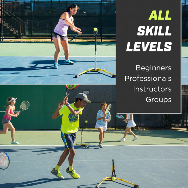 Young players training tennis using Eye Couch Junior