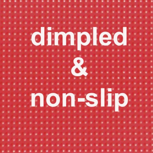 Red dimpled and non slip Quick Feet Donuts